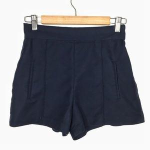 Zara • pleat seam high waisted shorts